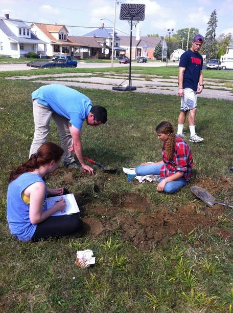 Wittenberg students test infiltration.
