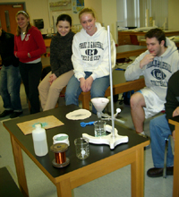 students watching copper demo