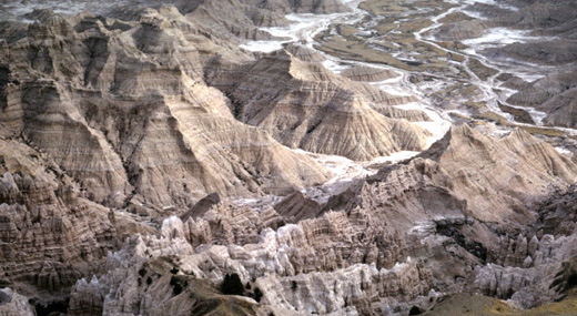 Image from the ND badlands taken by Lou Maher in a light plane