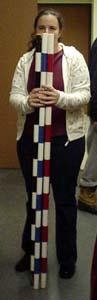 Striped poles