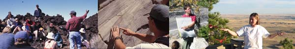 More Images of geoscience students and instructors in the field