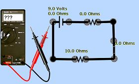 Image of an electrical circuit and ammeter.