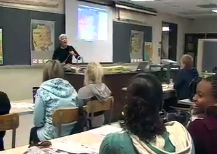 Karen Grove in the classroom
