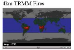 TRMM Fires from Earth Observatory