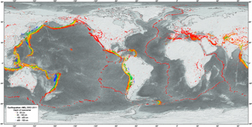 Image showing global earthquakes
