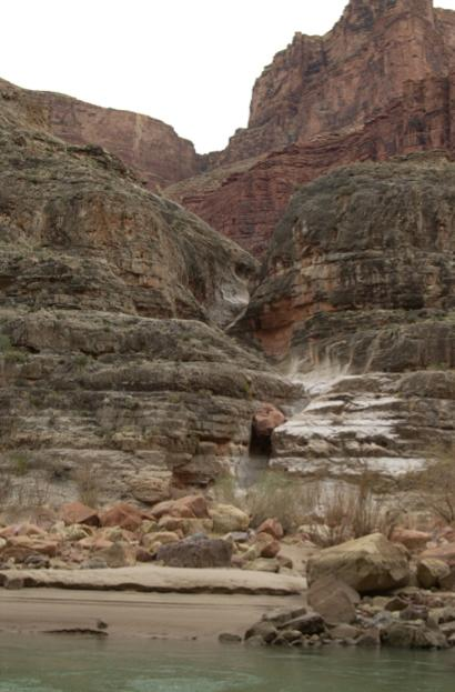 Bedrock channel, Grand Canyon