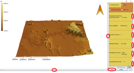 WILSIM-GC screenshot, pre-erosion