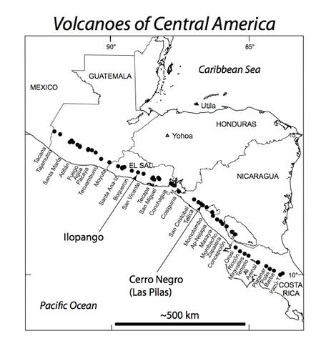 Central American Arc Volcanoes, Petrology, and Geochemistry