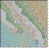 Bathymetry Map of Southern End and Mouth of Gulf of California