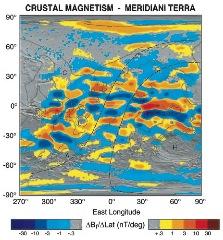 Figure 3 Crustal magnetism at Meridiani Terra