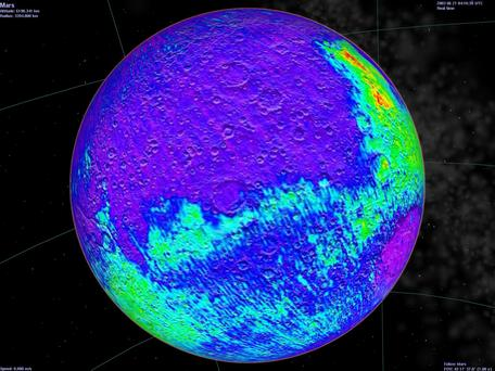 Mars Basalt Map