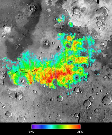 Meridiani Planum TES hematite abundance