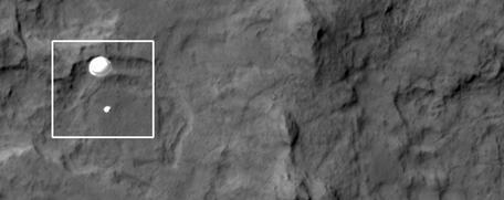 MSL Curiosity decent to Mars surface via HiRISE