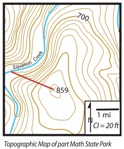 map for sample problem in slope explanation
