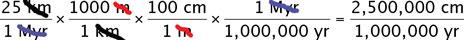 solve for cm/yr