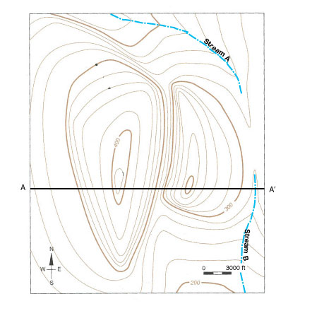 Black Hills Elevation Map.Constructing A Topographic Profile