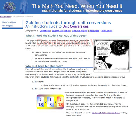 The Math You Need, When You Need It