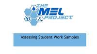 Assessing Student Work Samples First Slide