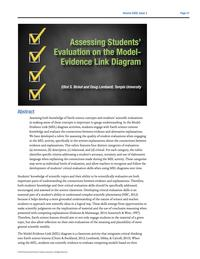 Assessing Students' Evaluation on MEL Diagrams frontpage