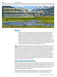 Freshwater Resources Article Cover