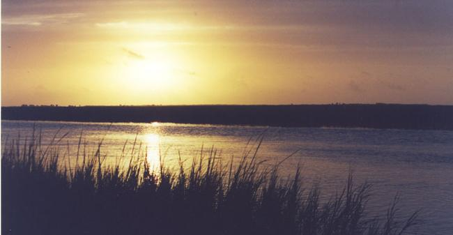 picture of dawn over the North Inlet