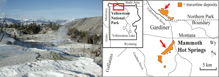 Image of the Gallitan Range and map of the study site.