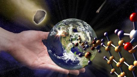 Graphic Image Conceptualizing the Origin of Life