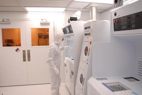 Working in Montana Microfabrication Facility (MMF) at Montana State University