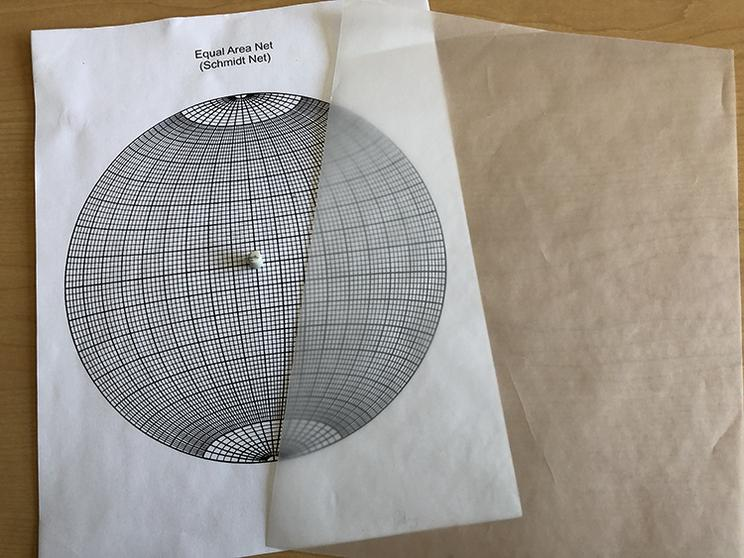 Paper stereonet materials