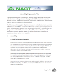NAGT Advertising & Sponsorship Policy
