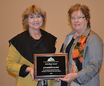 Neil Miner Award Recipient, Dr. Kathy Ellins