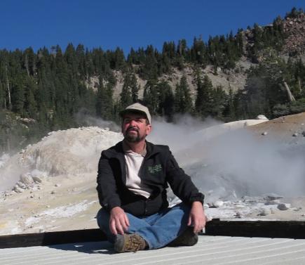 Glen White at Bumpass Hell in Lassen Volcanic National Park