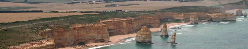 Sea stacks along Great Ocean Road, Victoria, Australia