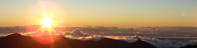 Sunrise from summit of Haleakalaa