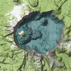 Anaglyph stereo map of Crater Lake