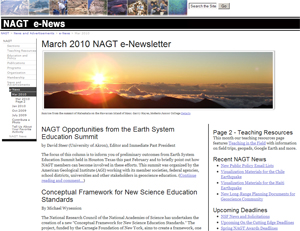 March 2010 e-News Screenshot