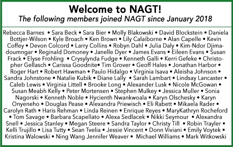 NAGT New members