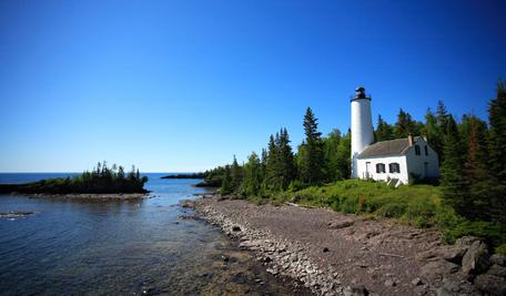 Rock Harbor Lighthouse at Isle Royale National park