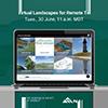 Virtual Landscapes Webinar Social Media Image