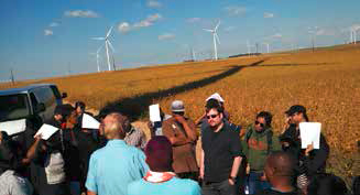 Tour of a wind farm