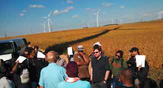 Tour of a wind farm