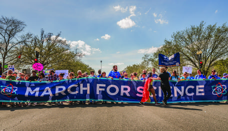 March for Science banner