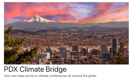 Logo for the current PDX Climate Bridge site