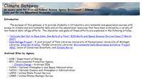 Climate Gateway Screenshot