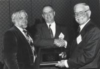 Robert C. Whisonant Recieving Neil Miner Award