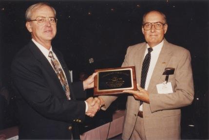 Thomas E. Hendrix Recieving Neil Miner Award