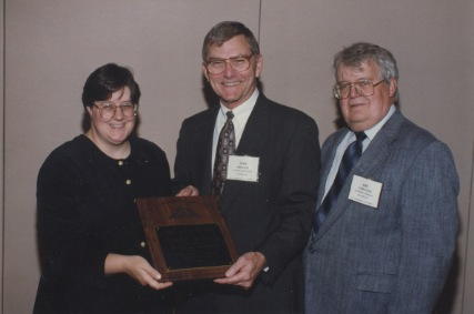 Thomas J. Freedman Recieving the Neil Miner Award