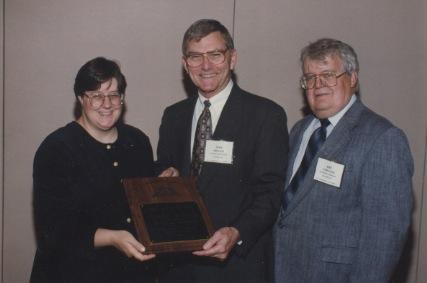 Thomas J. Freedman Recieving the Neil Miner Award
