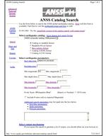ANSS Input Page