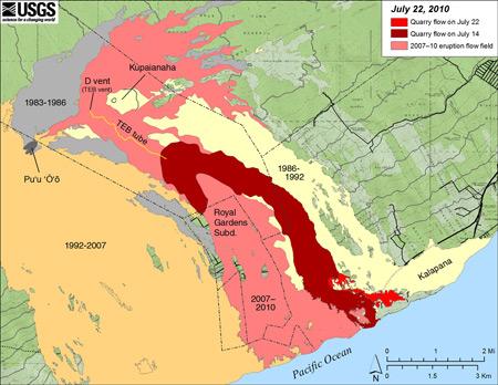 VEPP: Using maps to ess volcanic geologic hazards on east rift zone of kilauea, hawaii kilauea, first eruption of mount kilauea, last eruption of kilauea, volcano kilauea,